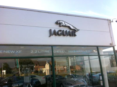 Jaguar showroom exterior